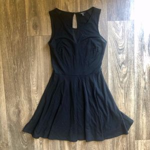Attractive Black Dress With Mesh Detail